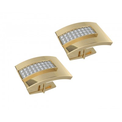 George Gold Diamond Cufflinks